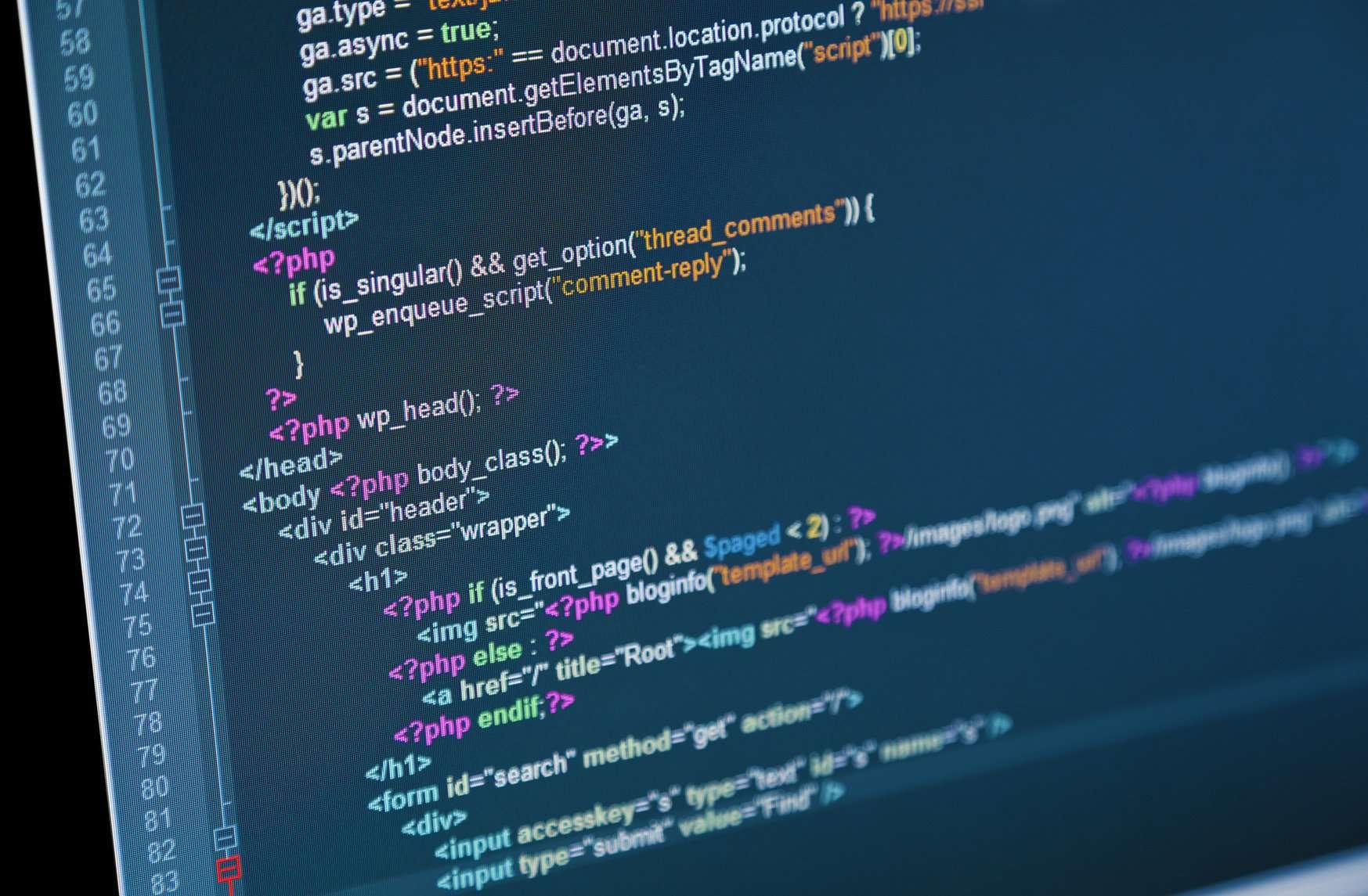 WordPress theme code editing