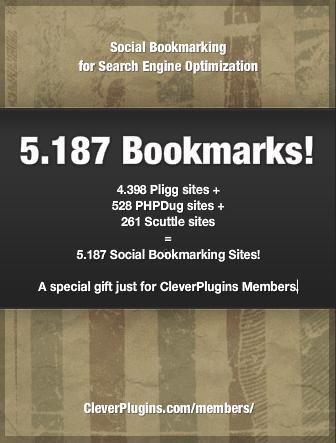 FREE Social Bookmark List