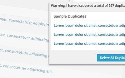 Update 4.1 for Delete Duplicate Posts Plugin + 100.000 Milestone!