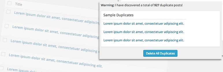 Delete Duplicate Posts WordPress plugin