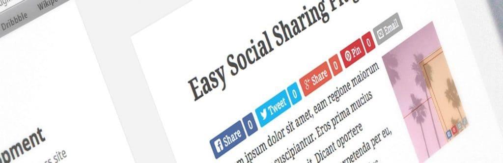 Easy Social Share - One of the best WordPress social media plugins