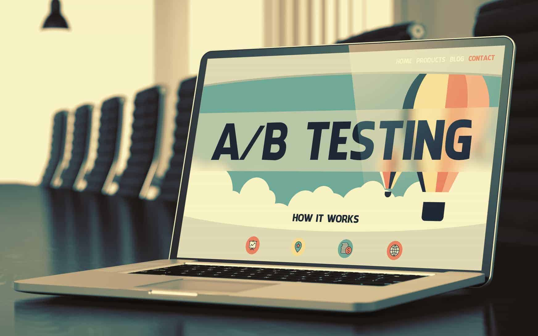 A/B Testing - on Laptop Screen