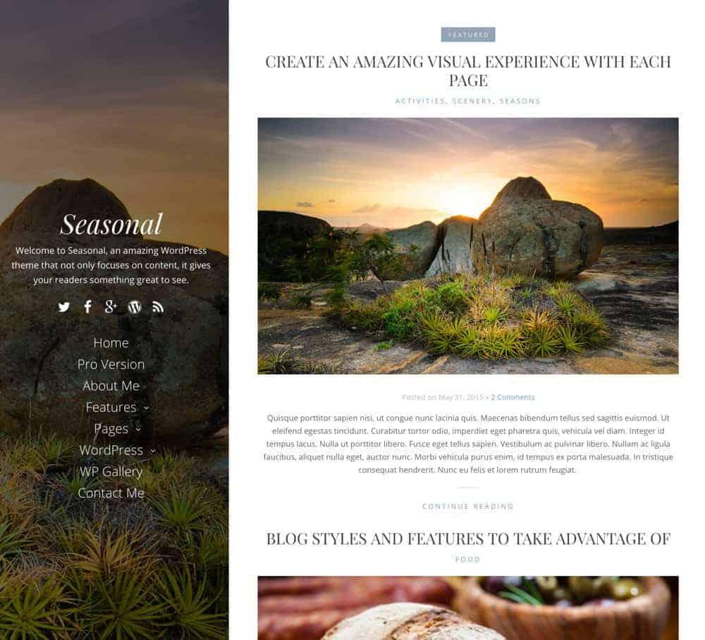 Seasonal WordPress Theme