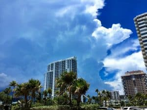 Clouds on a beautiful sunny day in Miami