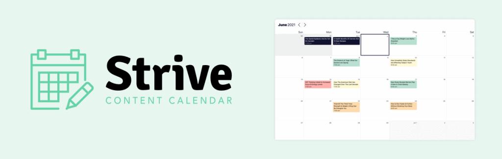 Strive Content Calendar for WordPress