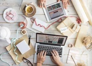 Desktop, laptop, crafts