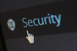 Security protection screenshot closeup