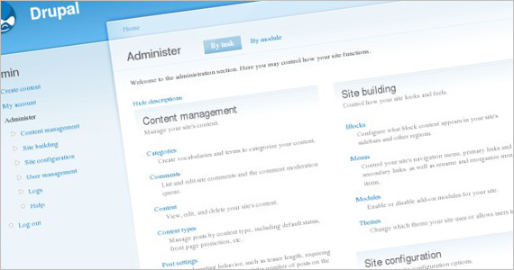 Drupal Administration Interface