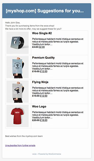 WooCommerce Cross-Seller Small Sample Screenshot