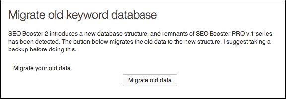 Migrate old keywords