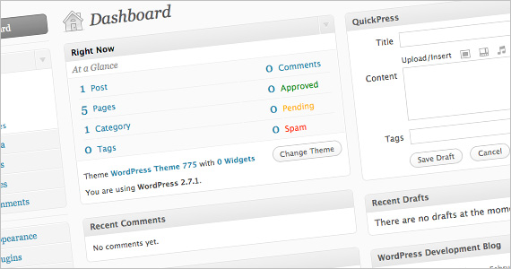 WordPress Administration Interface
